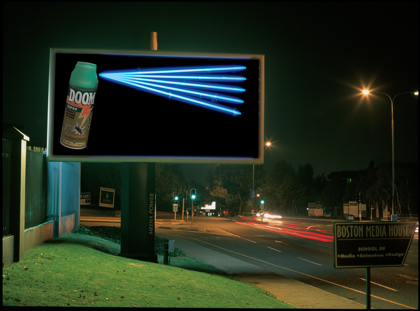 Billboard showing Doom Insecticide