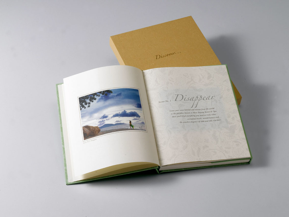 Featuring a book from Shangri-La advertising
