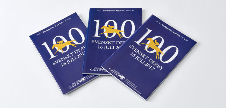 Racing brochures for the Swedish Derby
