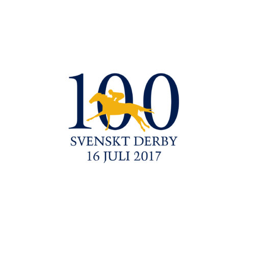 Symbol for the Swedish Derby 100 year celebration